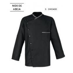 Chaqueta Cocina Chicago Nido Abeja Negra