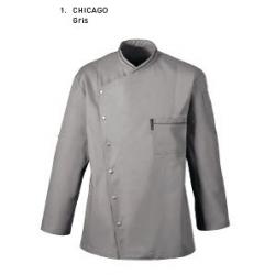 Chaqueta Cocina Bragard Chicago Gris