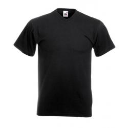 Camiseta caballero cuello en V manga corta.