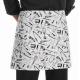Delantal corto estampados Chefwear