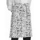 Delantal largo sin peto estampado Chefwear