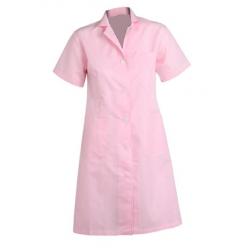 Bata manga corta rayas rosa