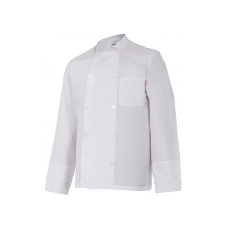 Chaqueta cocina básica manga larga blanca.