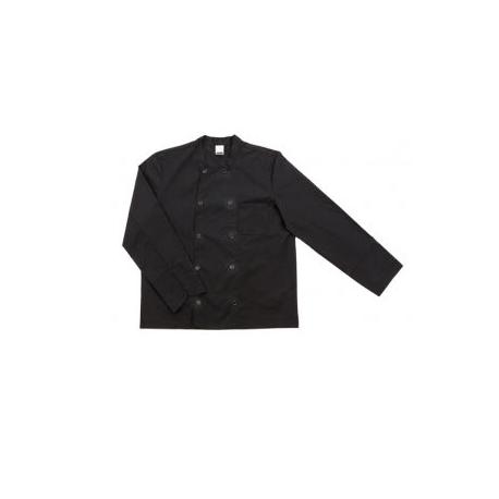 Chaqueta cocina básica manga larga negra.